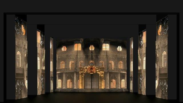 Cinderella - scena dall'atto I I- di Carlo Cerri -video design Carlo Cerri Alessandro Grisendi Marco Noviello